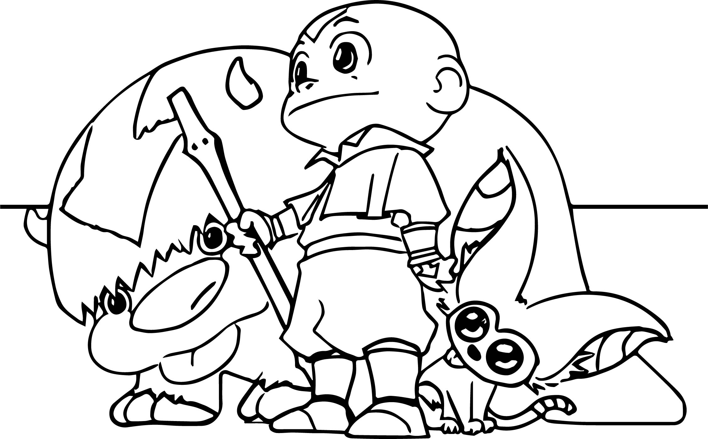 Aang appa momo bryan avatar coloring page for Avatar coloring pages