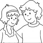 Adult Caillou Coloring Page
