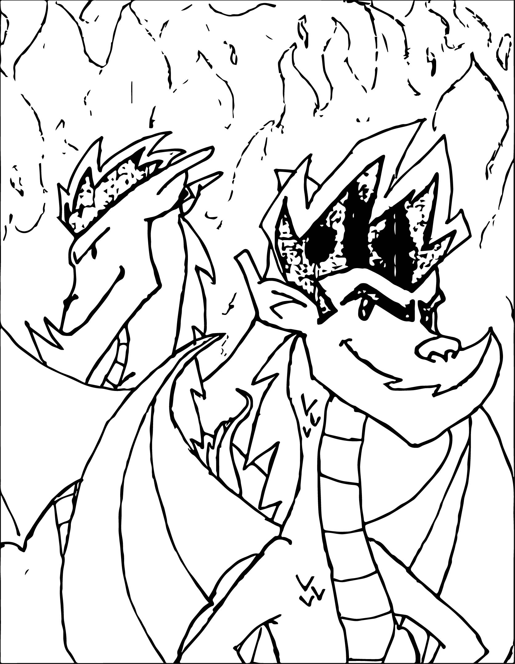 American Dragon New And Old Coloring Page