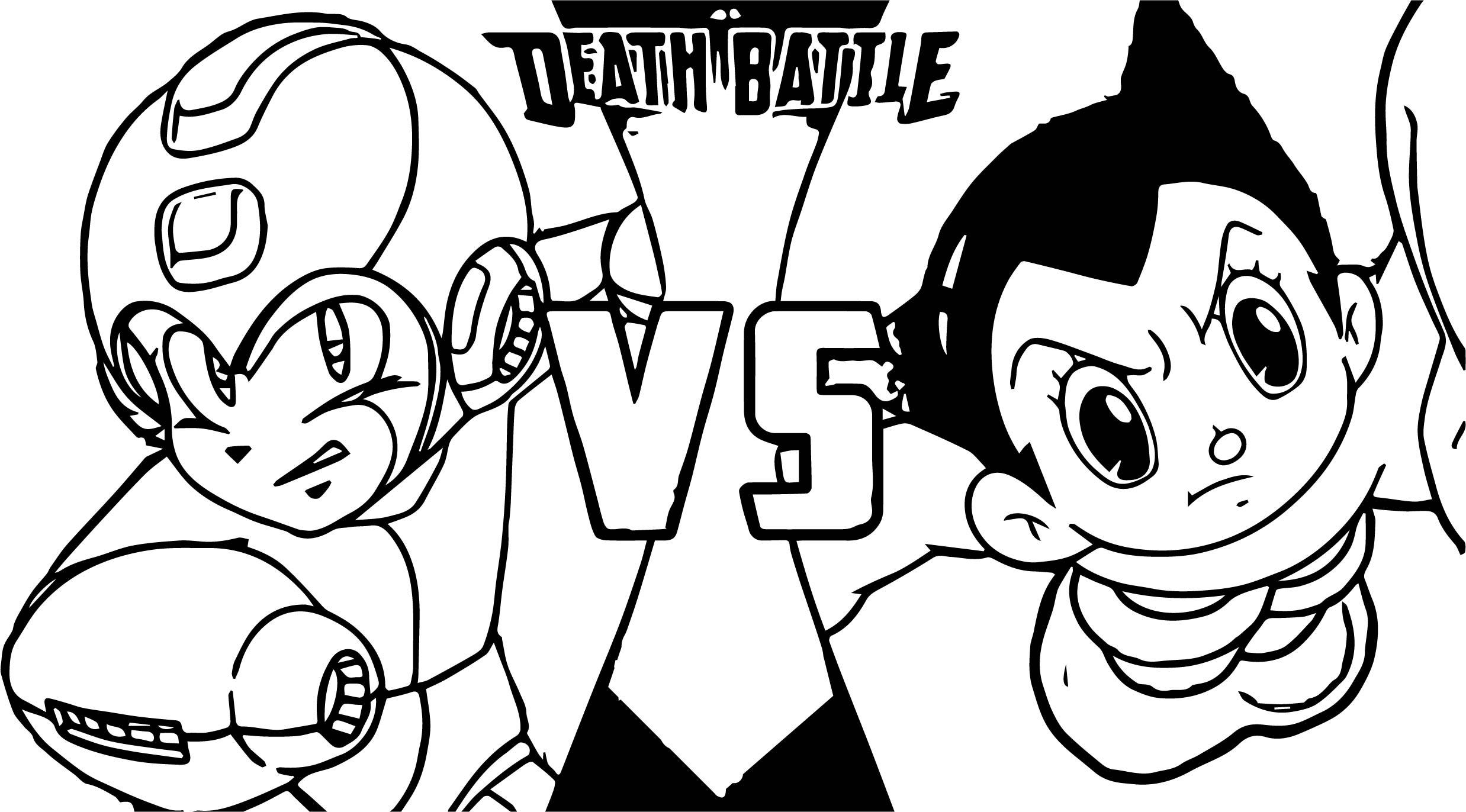 Astro Boy Death Battle Coloring Page