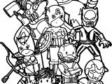 Avengers Team Coloring Page
