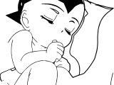 Baby Astro Boy And Uran Coloring Page
