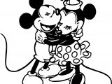 Baby Mickey Minnie Hug Coloring Page