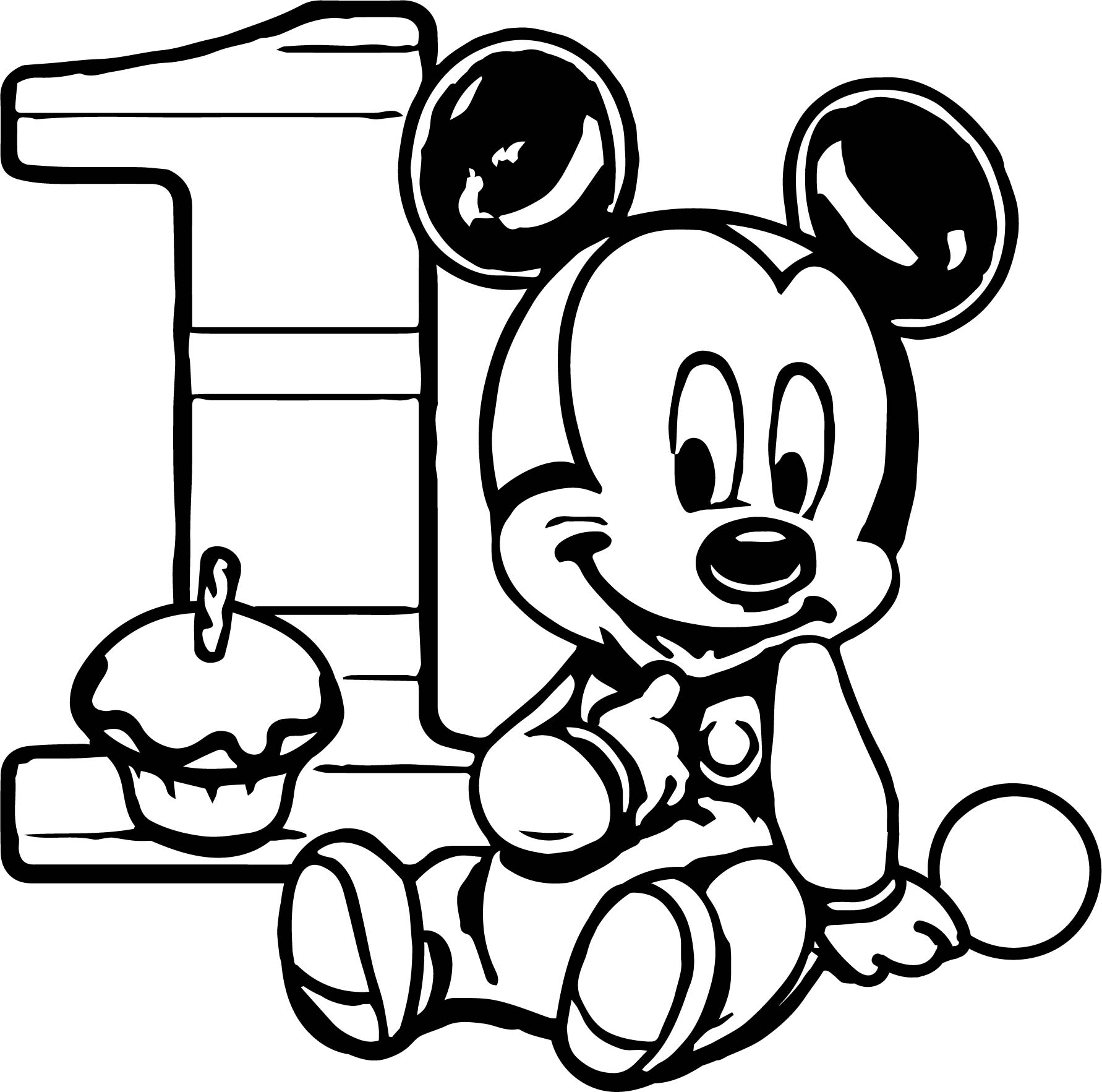 baby 1st birthday coloring pages - photo#29