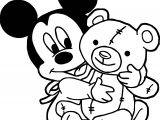 Baby Mickey Toy Coloring Page