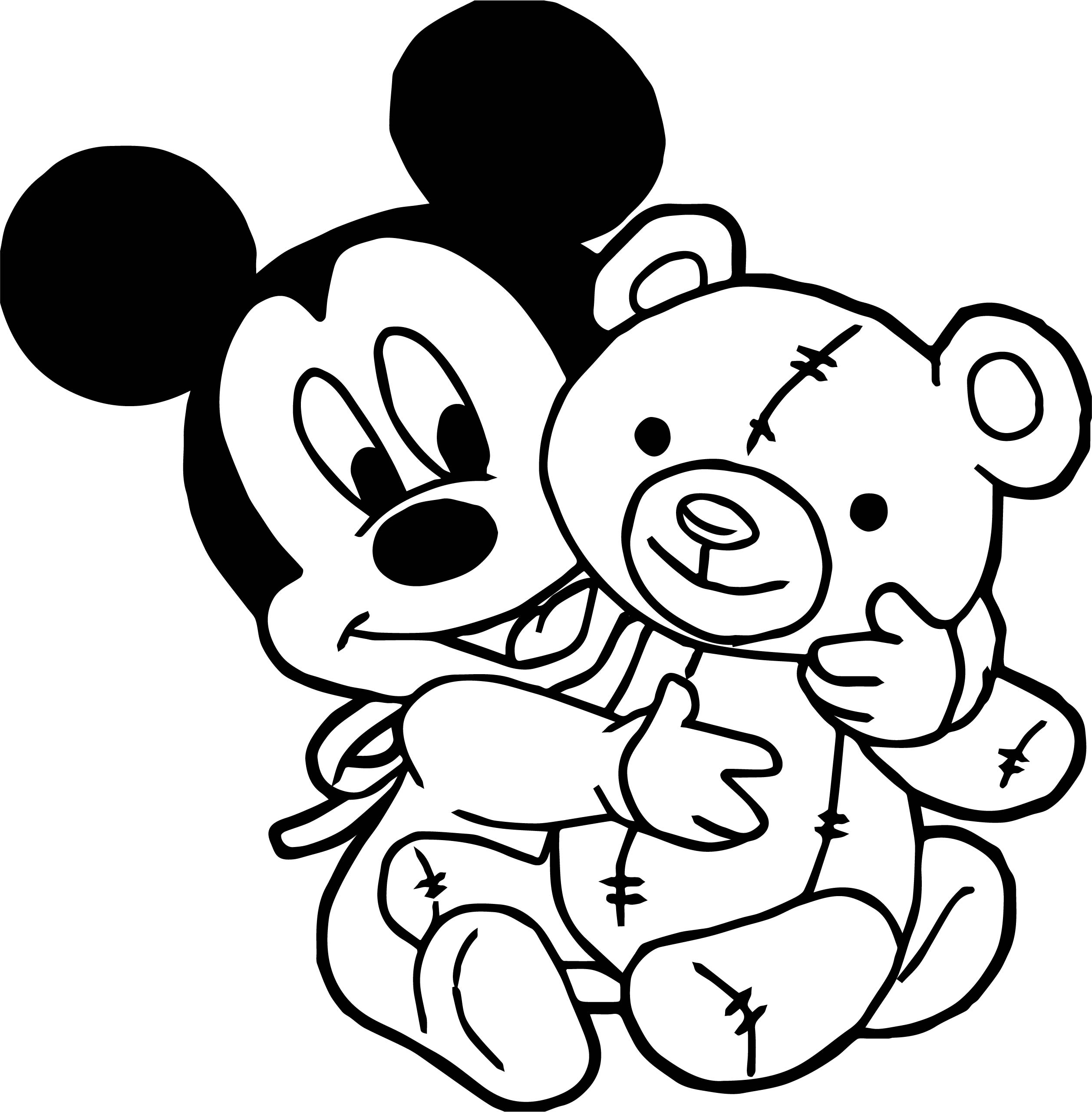 Baby mickey toy coloring page for Baby toys coloring pages