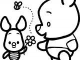 Baby Pig Pooh Chibi Coloring Page