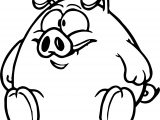 Baby Piglet Cartoon Winnie The Pooh Coloring Page