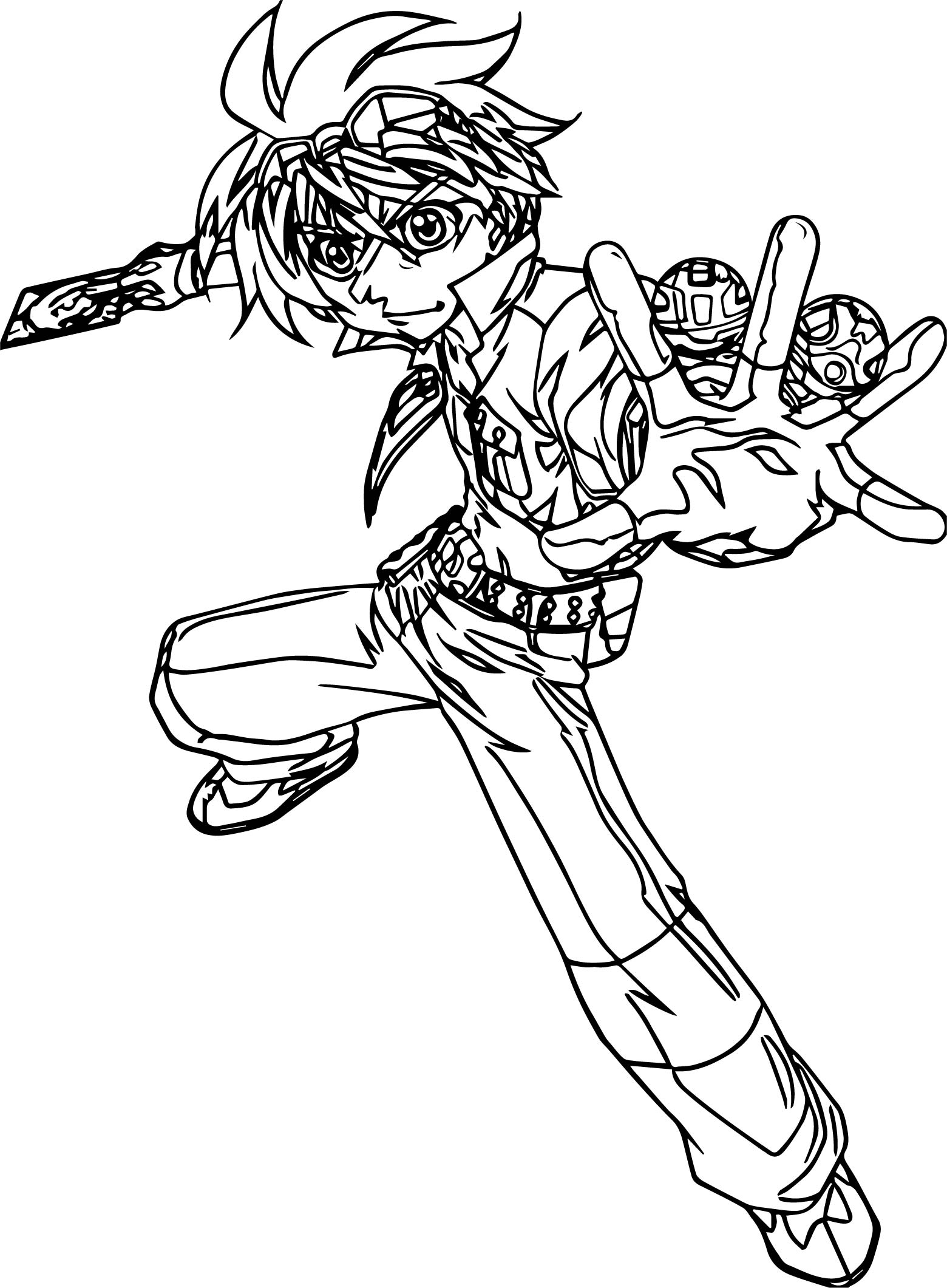 Bakugan Two Ball Coloring Page