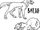 Balto Again Coloring Page