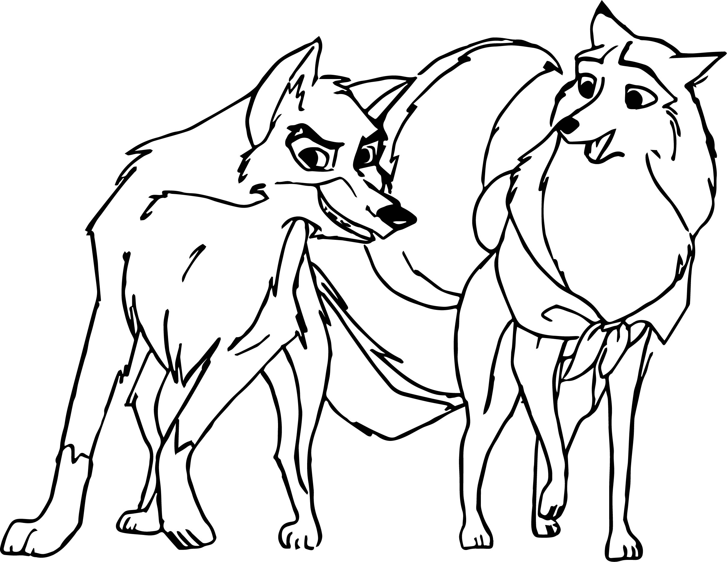 Balto And Jenna Together Coloring Pages | Wecoloringpage.com