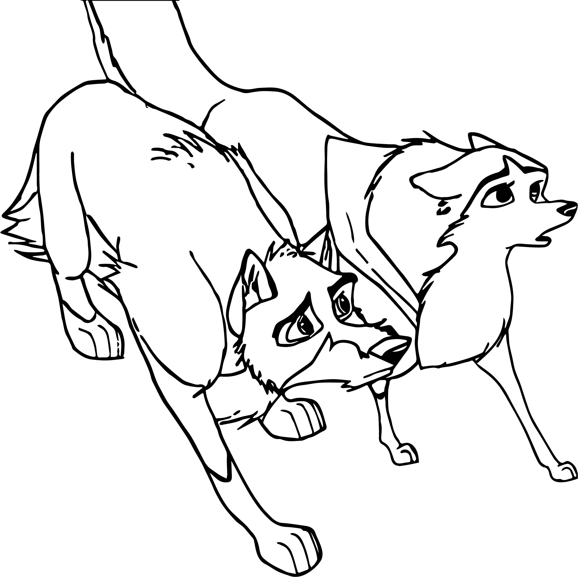 Balto And Jenna What Wolf Coloring Page