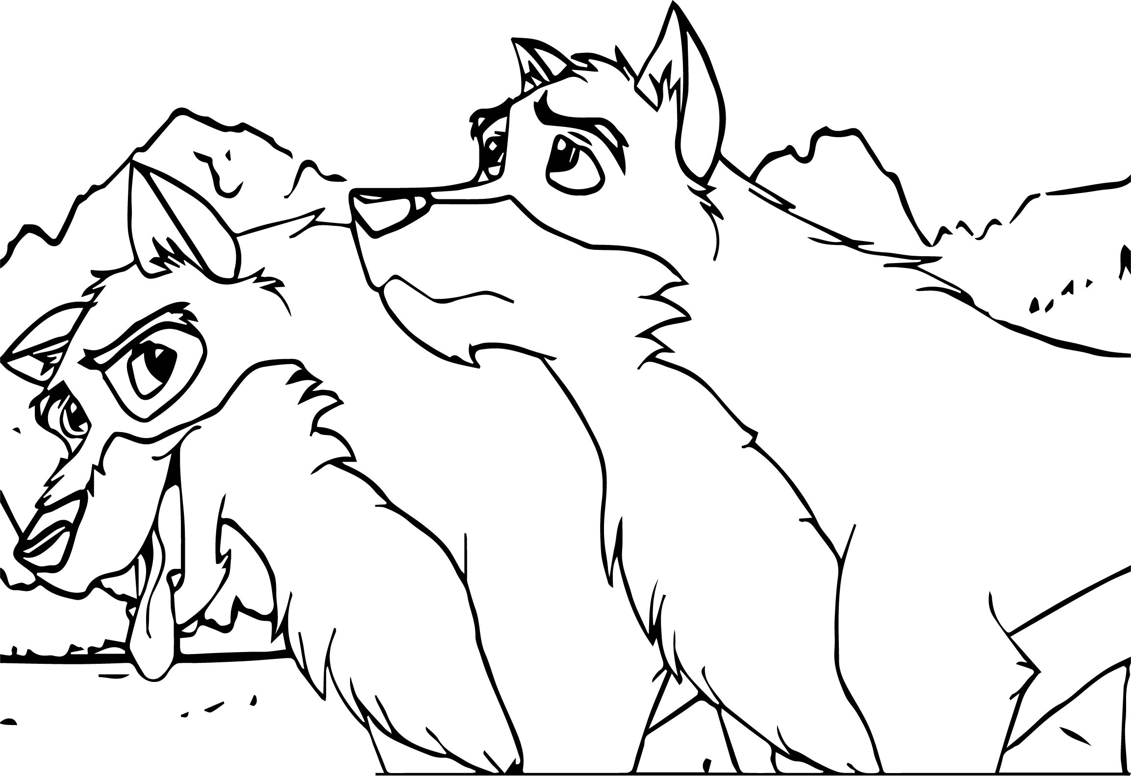 Balto and togo coloring page for Balto coloring pages