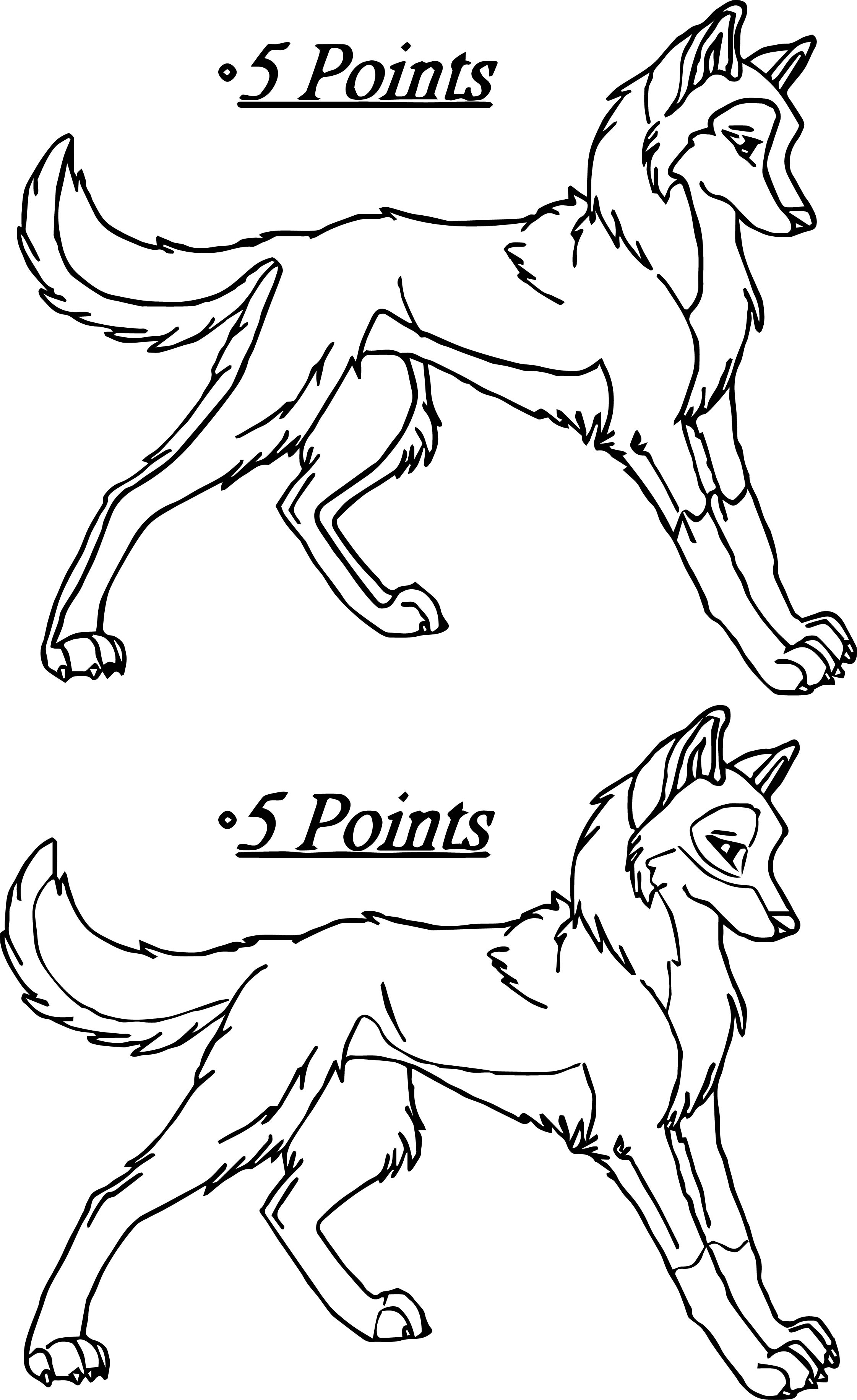 Balto Five Points Draw Coloring Page