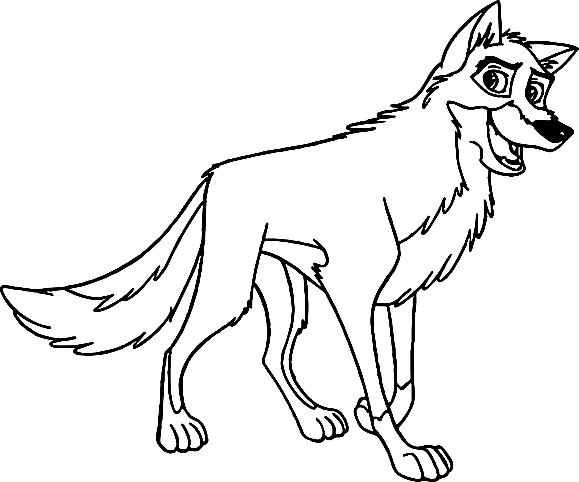 Balto Smile Coloring Page