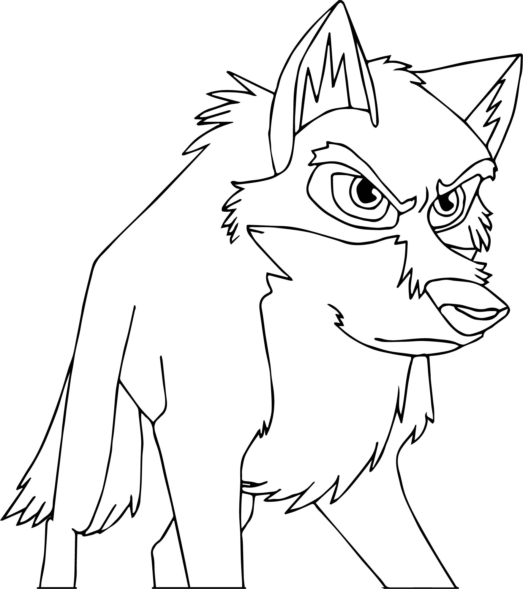 Balto Wolf Think Coloring Page