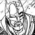 Batman Face Rain Coloring Page