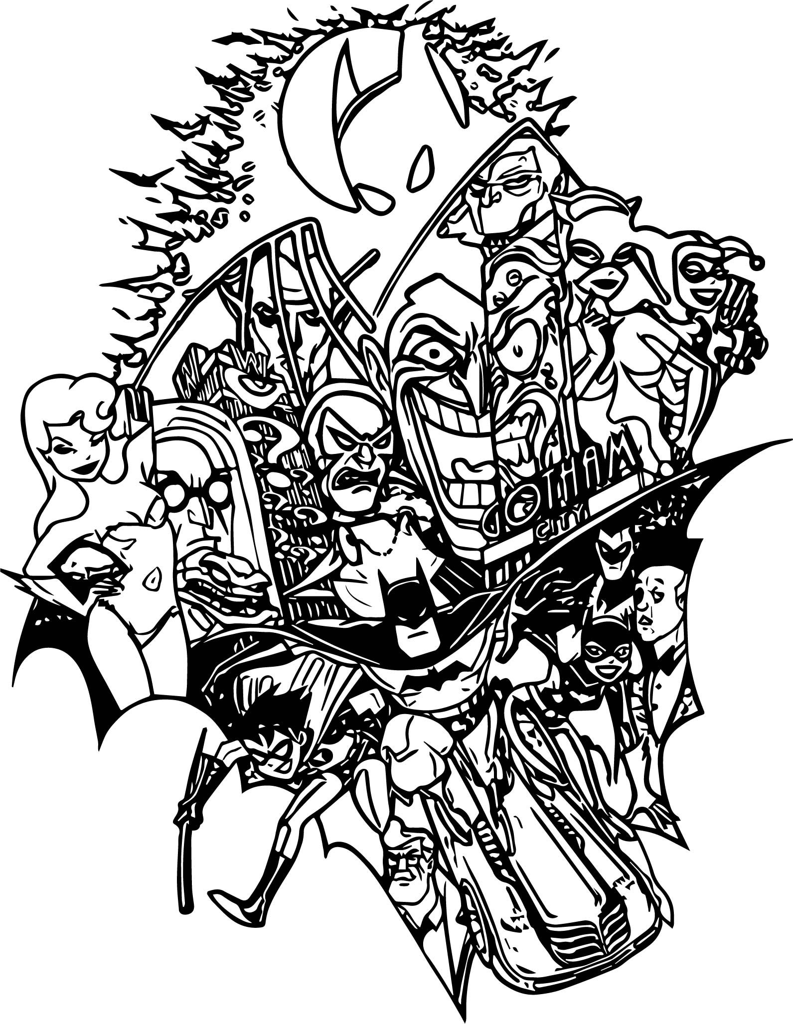 Batman Tas Tattoo Design Coloring Page