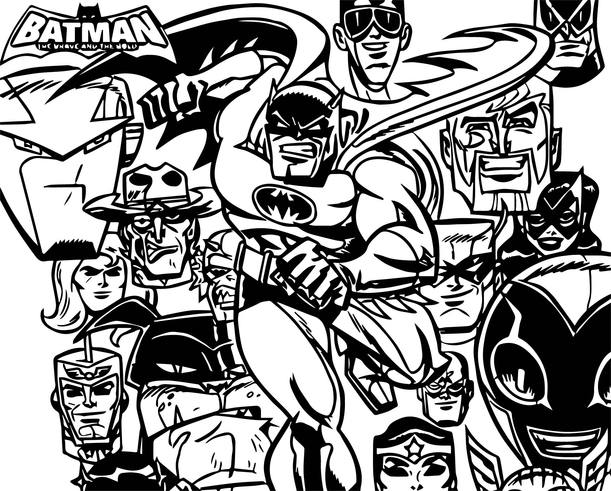 Batman The Brave And The Bold Batman Coloring Page