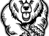 Bear Attack Mascot Coloring Page