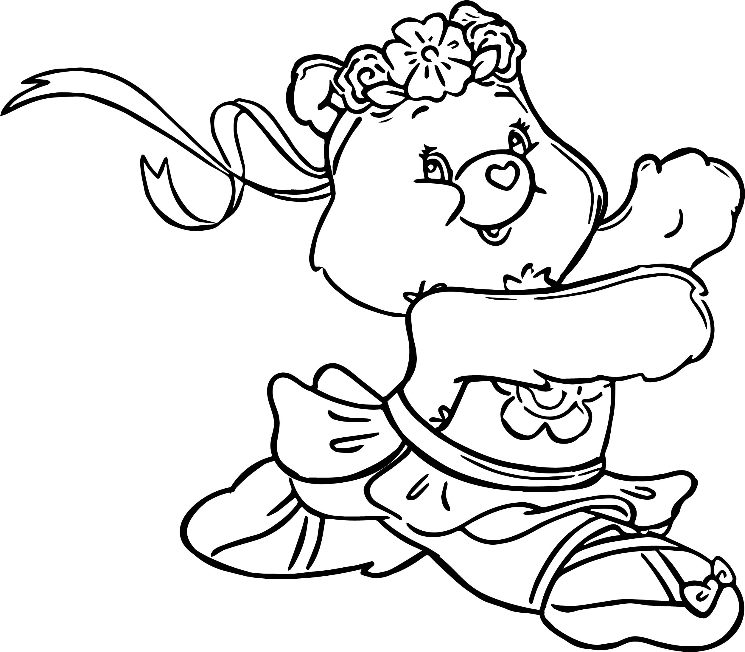 Bear Ballerina Coloring Page