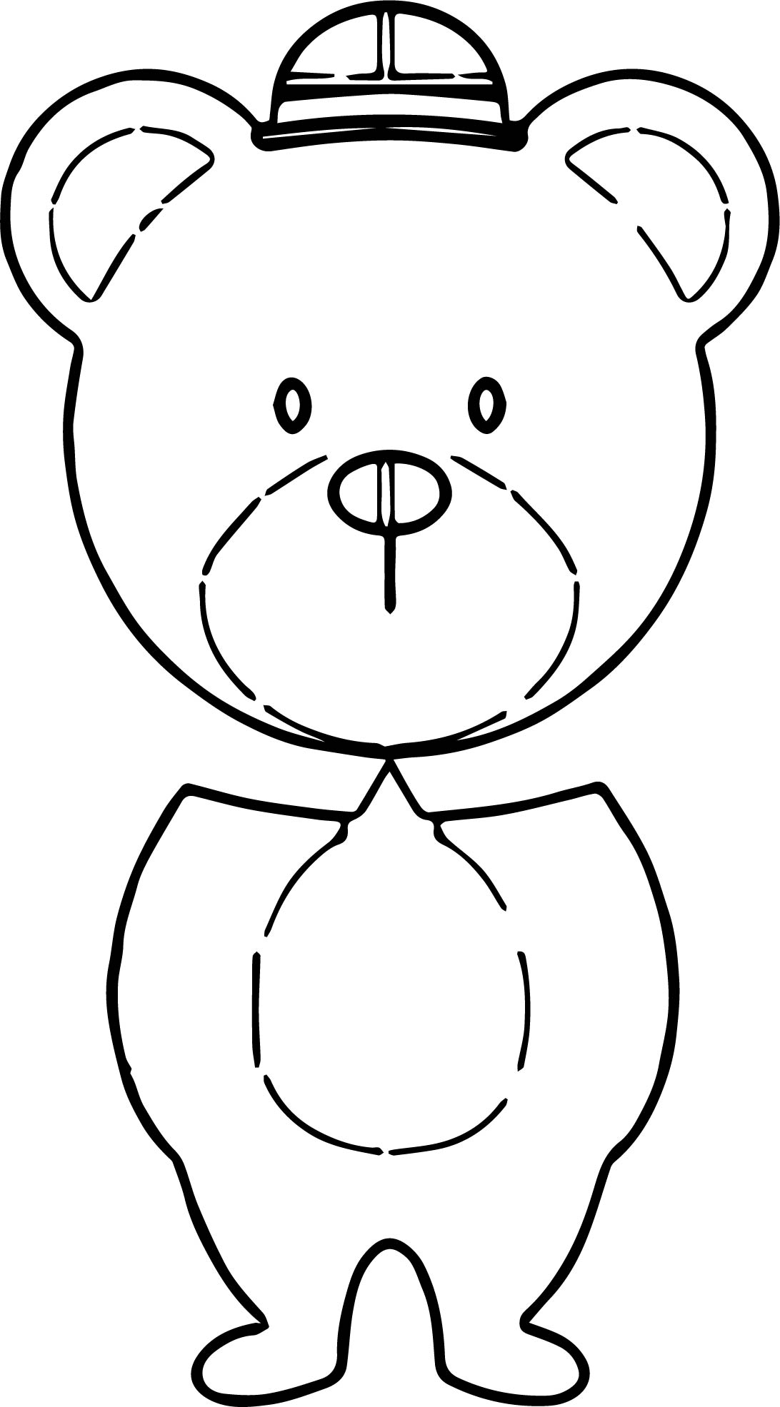 Bear Body Coloring Page