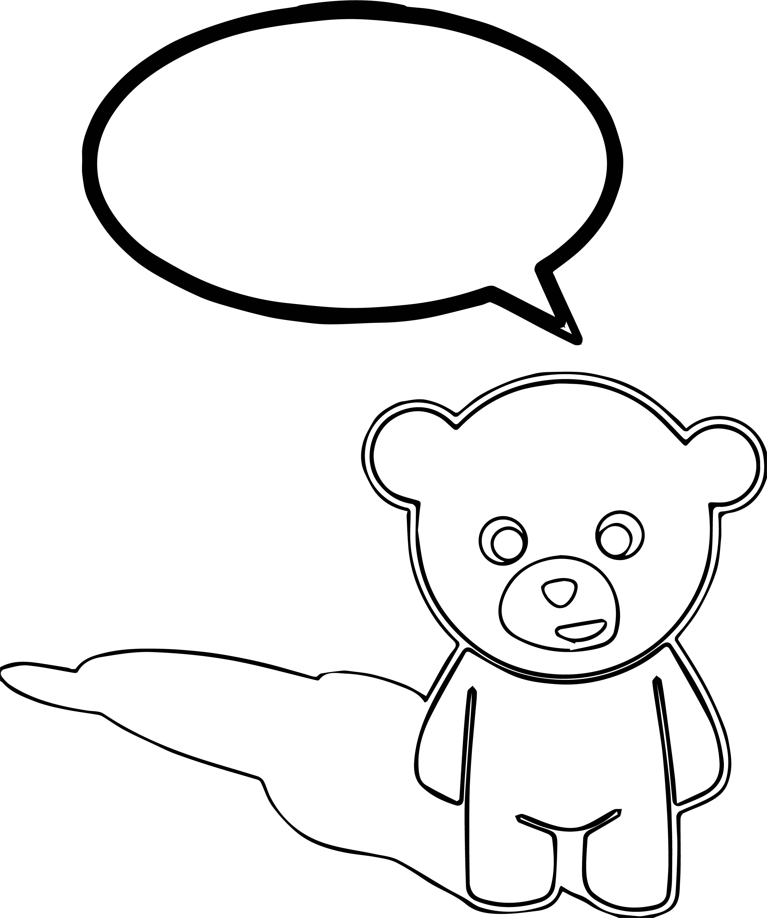 Bear Bubble Coloring Page