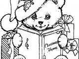 Bear Chrismas Coloring Page