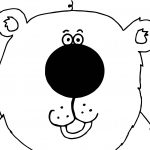 Bear Cute Big Face Coloring Page