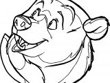 Bear Face Cartoon Coloring Page