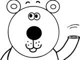 Bear Hand Coloring Page