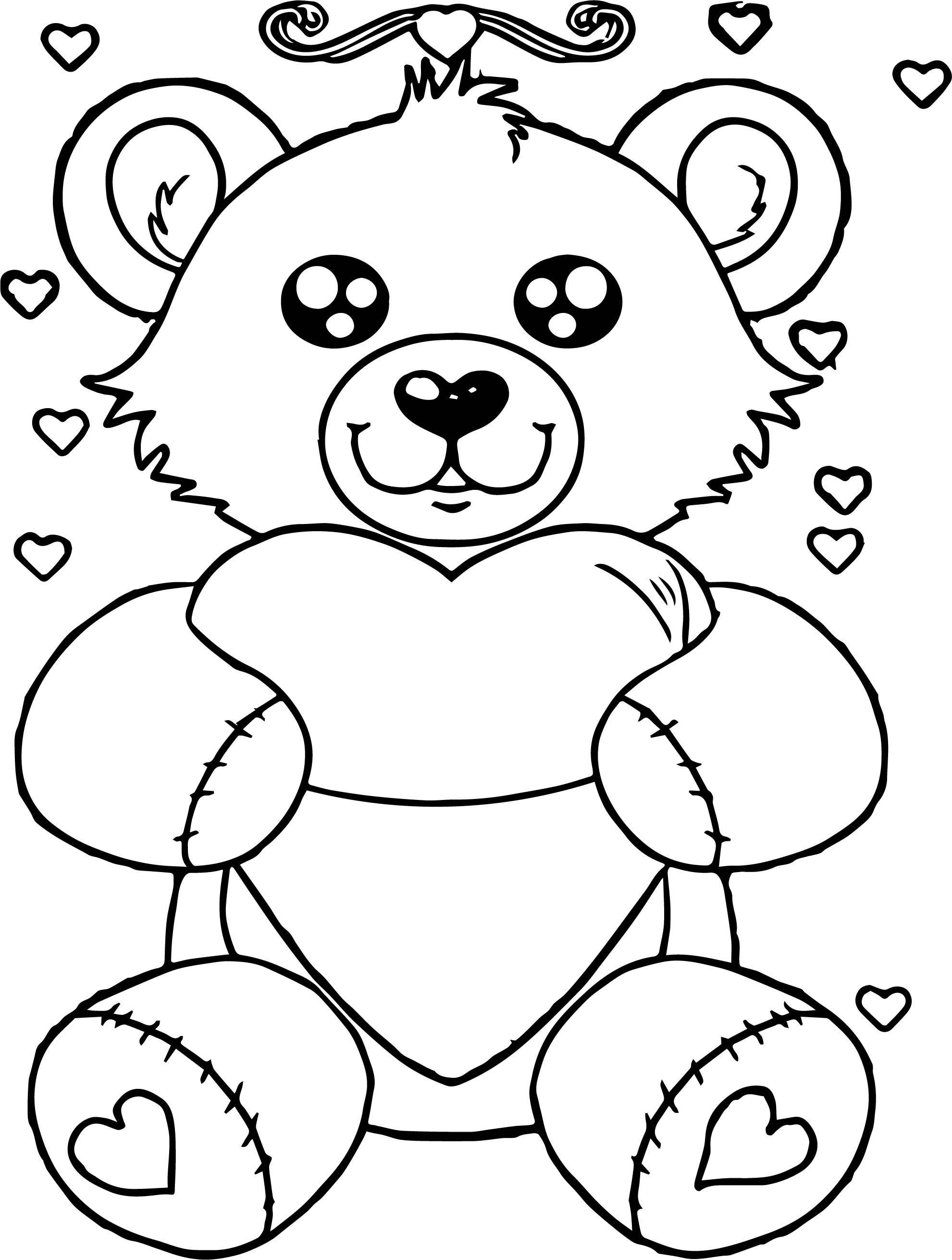 Bear My Heart Coloring Page