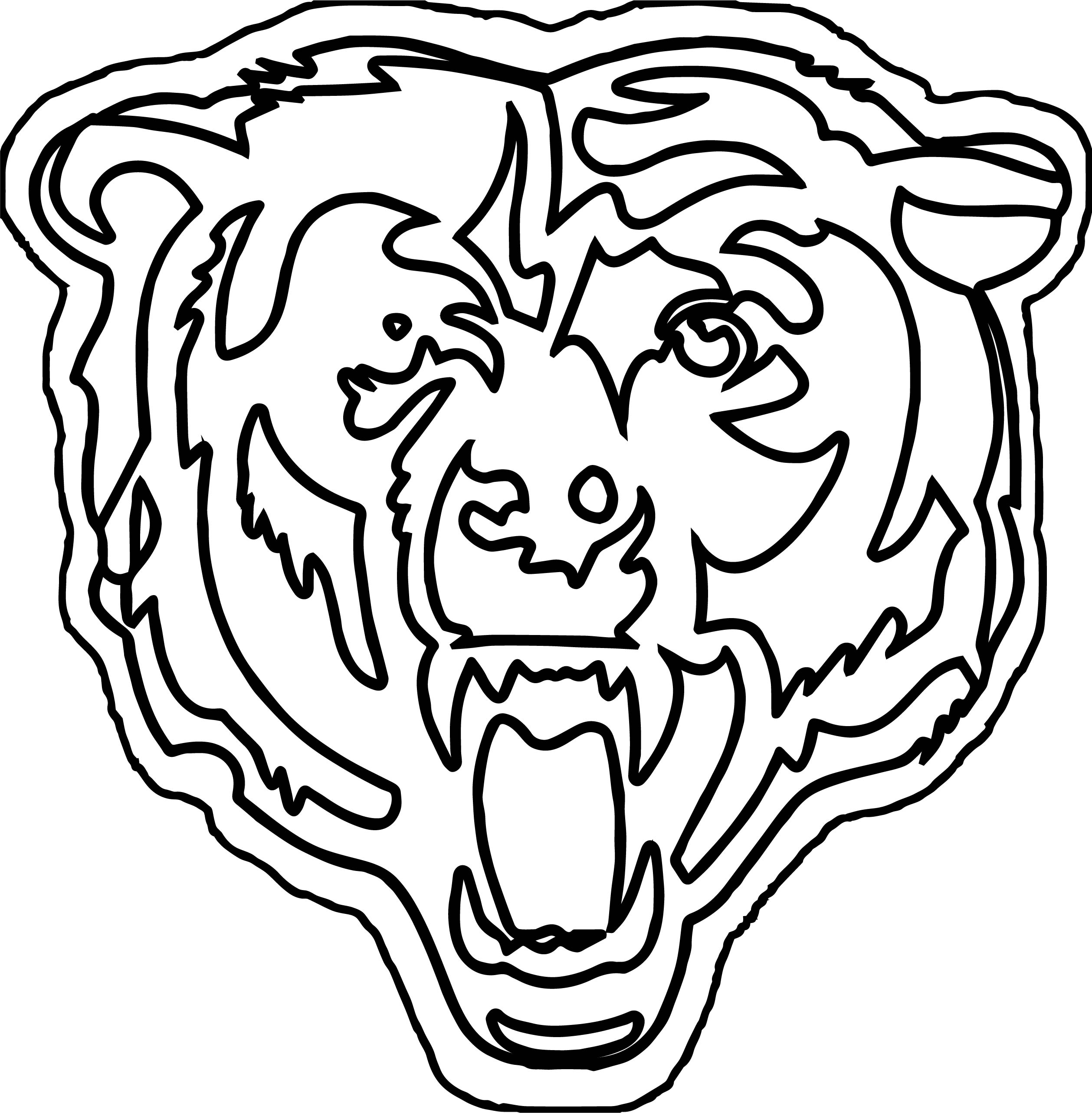 Bear Outline Coloring Pages