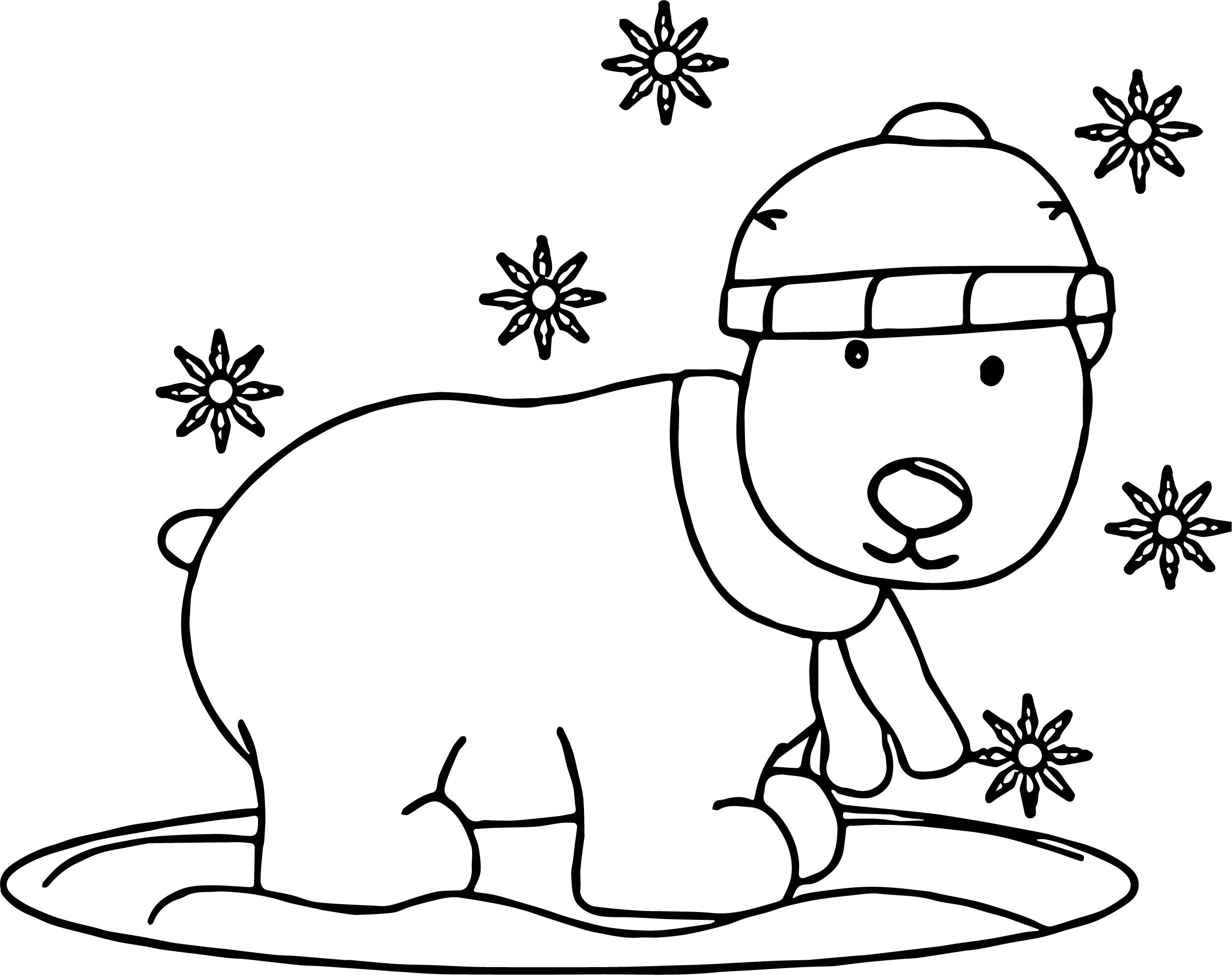This is an image of Fabulous Snow Coloring Page