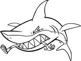 Beast Boy Shark Attacking Aqualad Coloring Page