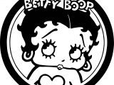Betty Boop Circle Logo Coloring Pages