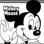 Big Baby Mickey Coloring Page