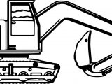 Big Side Bulldozer Coloring Page