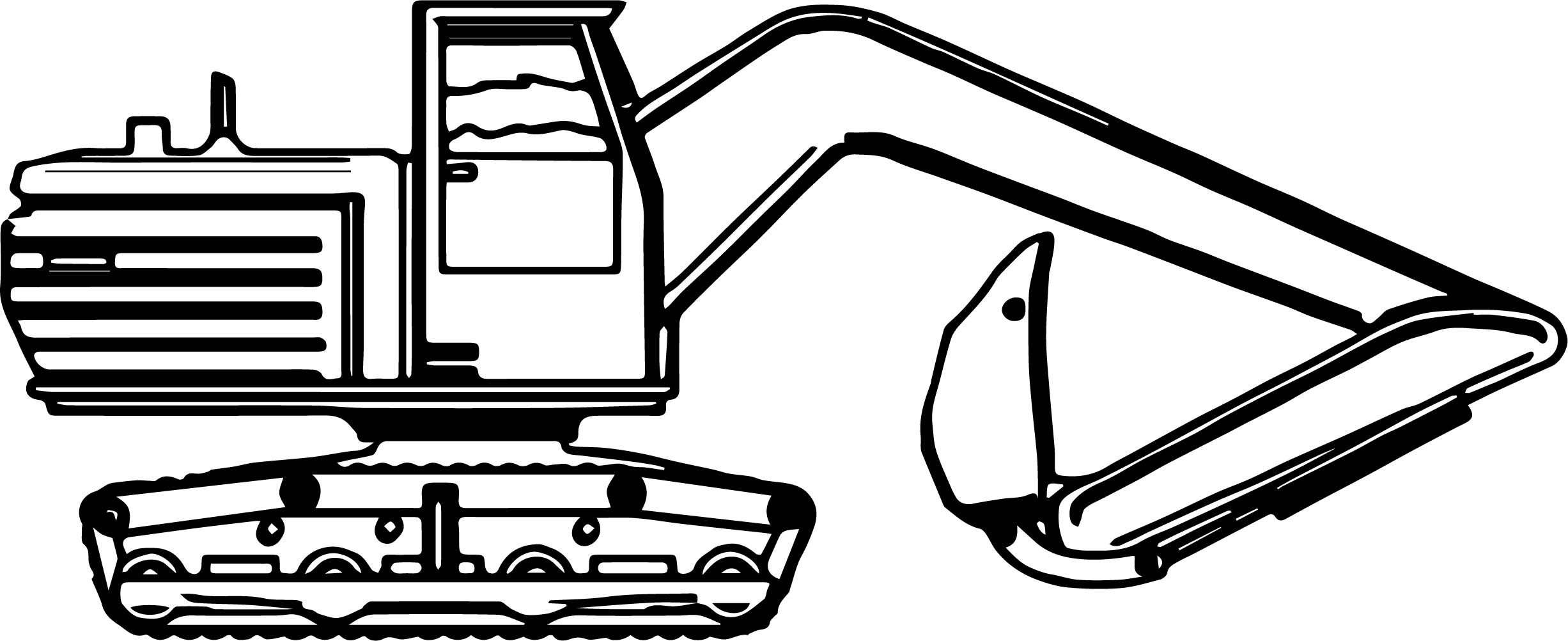 Big Side Bulldozer Coloring Page