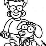 Boy And Puppy Dog Coloring Page
