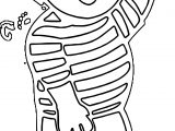 Boy Outline Hello Coloring Page