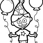 Boy Party Coloring Page