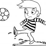 Boy Playing Ball Coloring Page