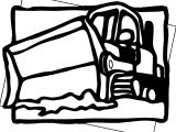 Bulldozer Clipart Coloring Page
