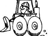 Bulldozer Man Coloring Page