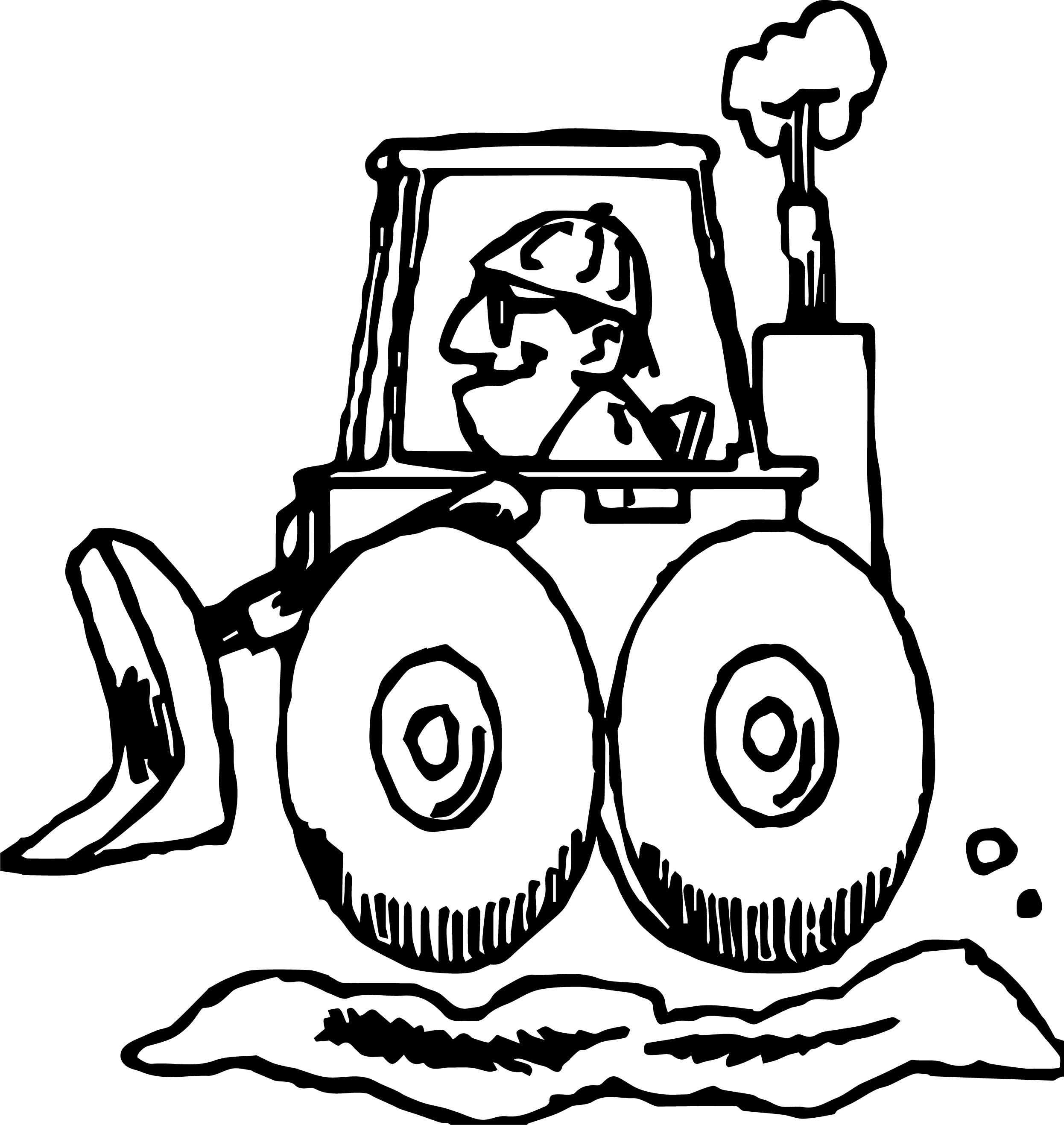 Bulldozer Man Coloring Page