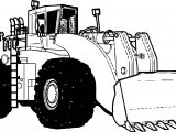 Bulldozer Perspective Coloring Page