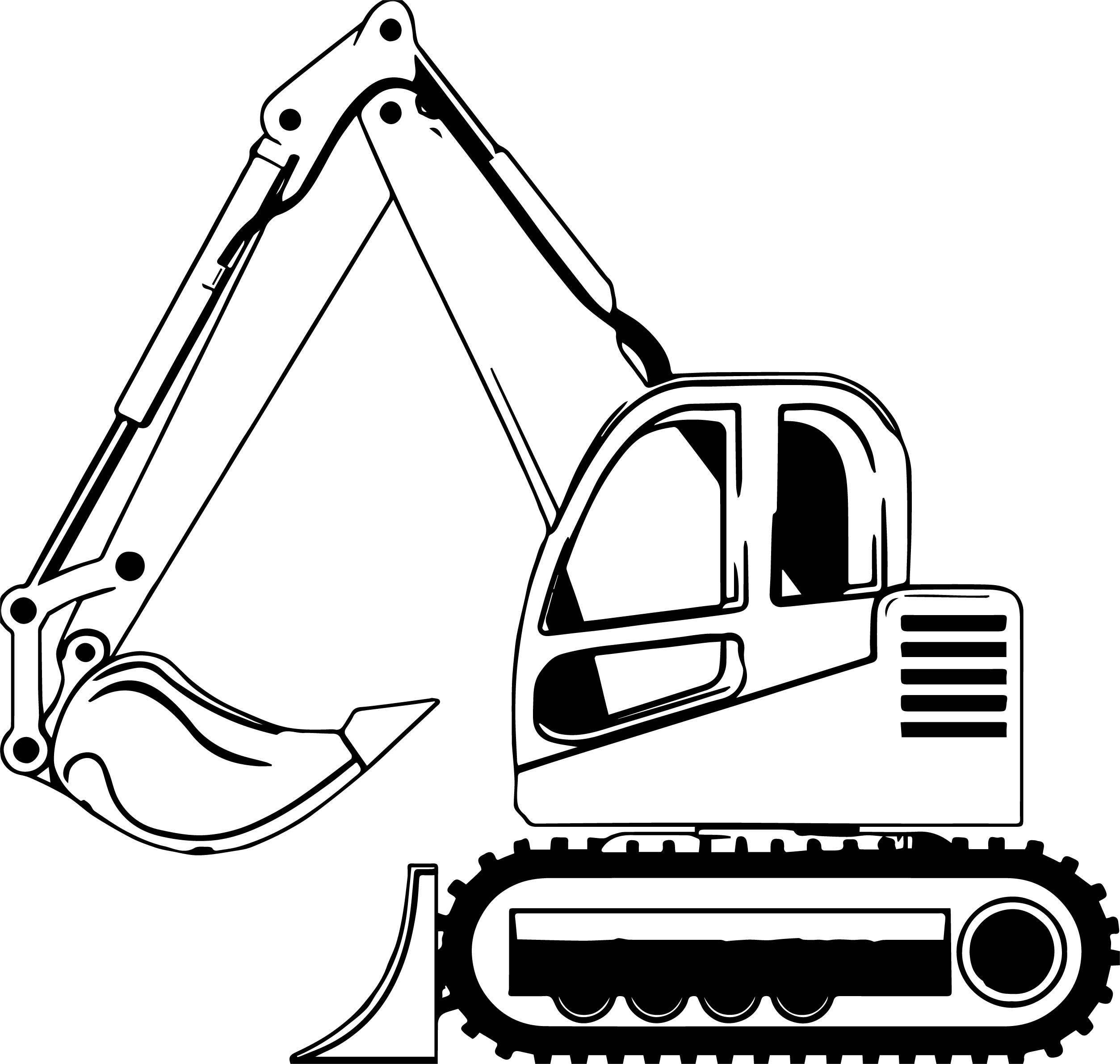 Bulldozer Side Coloring Page