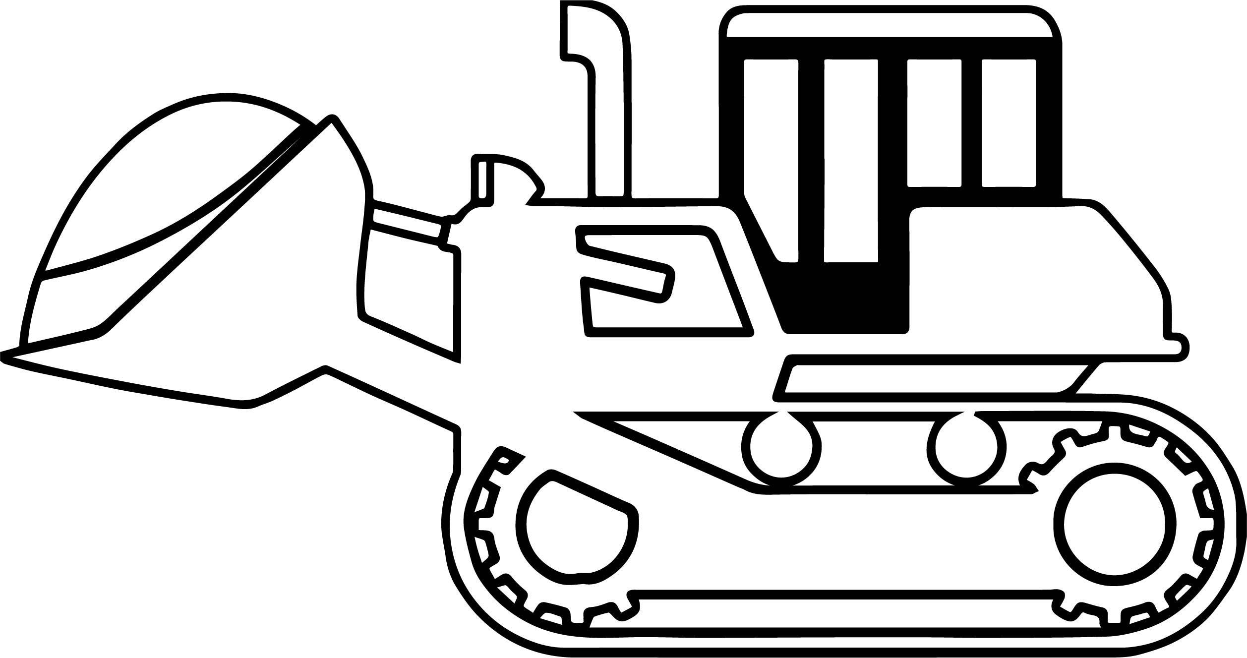 Bulldozer Side Sand Coloring Page | Wecoloringpage