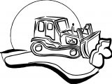 Bulldozer Silhouette Coloring Page